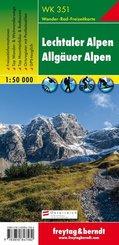 Freytag & Berndt Wander-, Rad- und Freizeitkarte Lechtaler Alpen, Allgäuer Alpen