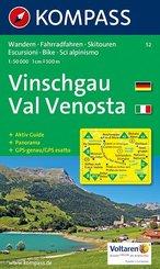 Kompass Karten Vinschgau; Val Venosta