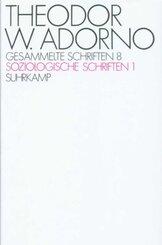 Gesammelte Schriften: Soziologische Schriften; Bd.8 - Tl.1