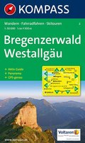 Kompass Karte Bregenzerwald, Westallgäu