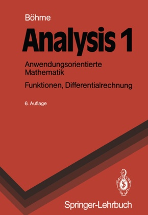Analysis: Funktionen, Differentialrechnung; Bd.1