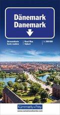 Kümmerly+Frey Karte Dänemark Straßenkarte; Danemark; Denmark. Danmark