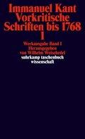Vorkritische Schriften bis 1768 - Tl.1