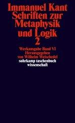 Schriften zur Metaphysik und Logik - Tl.2