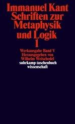 Schriften zur Metaphysik und Logik - Tl.1