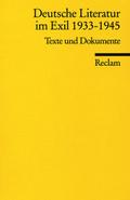 Deutsche Literatur im Exil 1933-1945