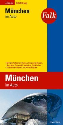 Falk Plan Stadtplan München im Auto mit Ortsteilen von Dachau