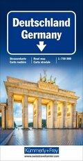 Deutschland Strassenkarte