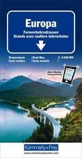 Kümmerly & Frey Karte Europa Fernverkehrsstrassen