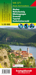 Freytag & Berndt Wander-, Rad- und Freizeitkarte Wachau, Welterbesteig, Nibelungengau, Kremstal, Yspertal, Dunkelsteiner