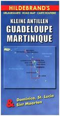 Hildebrand's Urlaubskarte Kleine Antillen, Guadeloupe, Martinique; Lesser Antilles, Guadeloupe, Martinique / Petites Ant