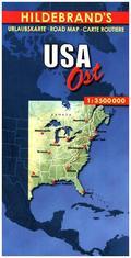 Hildebrand's Urlaubskarte USA, Ost; USA, the East; USA l'Est