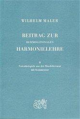Beitrag zur durmolltonalen Harmonielehre, in 2 Bdn.: Notenbeispiele aus der Musikliteratur mit Kommentar; Bd.2
