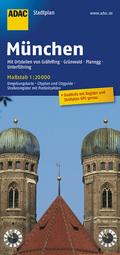 ADAC StadtPlan München mit Gräfelfing, Grünwald, Planegg, Unterföhring