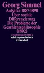 Aufsätze - Über sociale Differenzierung - Die Probleme der Geschichtsphilosophie (1892)