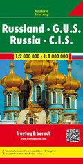 Freytag & Berndt Autokarte Russland, G.U.S. 1:2 Mill. - 1:8 Mill.; Russia, C.I.S.; Russie, C.E.I.; Russische federatie