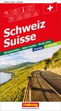 Schweiz CH-Touring Strassenatlas 1:250 000; Hallwag Strassenatlas Suisse