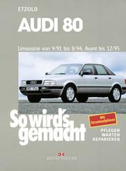 Audi 80 Limousine von 9/91 bis 8/94, Avant bis 12/95