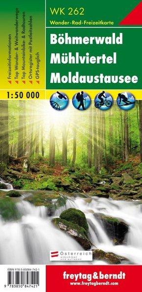 Freytag & Berndt Wander-, Rad- und Freizeitkarte Böhmerwald, Mühlviertel, Moldaustausee