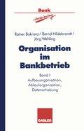 Organisation im Bankbetrieb: Aufbauorganisation, Ablauforganisation, Datenerhebung; Bd.1
