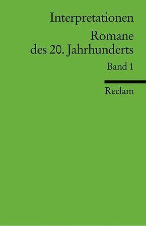 Romane des 20. Jahrhunderts - Bd.1