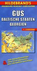 Hildebrand's Urlaubskarte GUS, Baltische Staaten, Georgien; C.I.S., Baltic States, Georgia; C.E.I., Etats-Baltes, Georgi