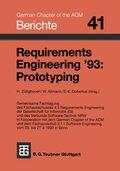 Requirements Engineering '93: Prototyping