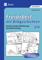 Freiarbeit mit Bildgeschichten: 3./4. Schuljahr, Druckschrift