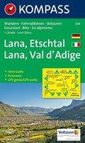 Kompass Karte Lana, Etschtal; Lana, Val d' Adige