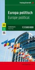 Freytag & Berndt Autokarte Europa politisch 1 : 3.500.000; Freytag & Berndt Mapa de carreteras Europa politico; Freytag