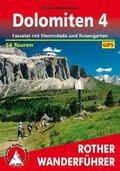 Rother Wanderführer Dolomiten: Fassatal mit Marmolada und Rosengarten; Bd.4