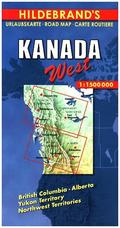 Hildebrand's Urlaubskarte Kanada West; Canada the West; Canada l' Ouest