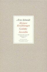 Werke, Bargfelder Ausgabe, Werkgr.1: Kleinere Erzählungen, Gedichte, Juvenilia; Bd.4