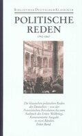 Bibliothek der Geschichte und Politik: Politische Reden; Bd.24 - Tl.1