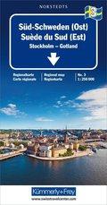 Kümmerly & Frey Karte Süd-Schweden (Ost); Suède du Sud (Est) / Southern Sweden (East) / Södra Sverige (Öst)