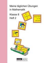 Meine täglichen Übungen in Mathematik: Meine täglichen Übungen in Mathematik - 8. Schuljahr - H.2