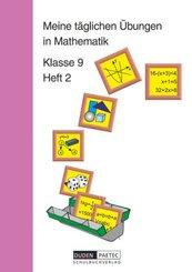 Meine täglichen Übungen in Mathematik: Meine täglichen Übungen in Mathematik - 9. Schuljahr - H.2