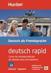 deutsch rapid, Deutsch-Spanisch, Audiokurs mit Arbeitsbuch und 2 Audio-CDs