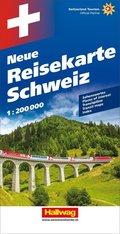 Hallwag Straßenkarte Grosse Reisekarte Schweiz; Nouvelle carte touristique Suisse