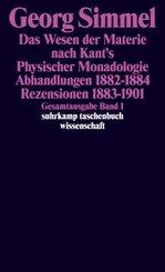 Das Wesen der Materie nach Kant's Physischer Monadologie - Abhandlungen - Rezensionen
