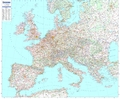 Michelin Karte Europa, Planokarte m. Leiste