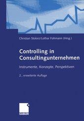 Controlling in Consultingunternehmen