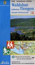Topographische Freizeitkarte Baden-Württemberg Waldshut-Tiengen, Schluchsee
