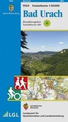 Topographische Freizeitkarte Baden-Württemberg Bad Urach