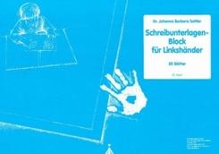 Schreibunterlagenblock für Linkshänder (20 Blätter)