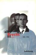 alles was Brecht ist . . .