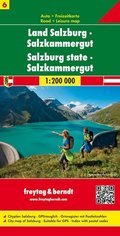Freytag & Berndt Autokarte Land Salzburg, Salzkammergut; Distrito montanoso Salzburgo, Salzkammergut; Salzburg state, Sa