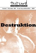 Testcard: Pop und Destruktion; Nr.1/September 1995
