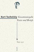 Gesamtausgabe, Texte und Briefe: Texte 1927; 9