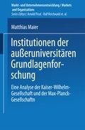 Institutionen der außeruniversitären Grundlagenforschung